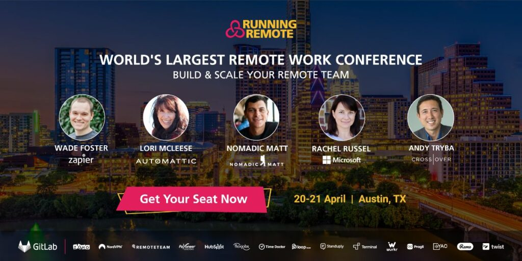 join Running Remote, one of the largest remote work events on the planet